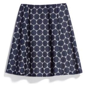 Renee C. Skirts - Renee C Lace Detail Flouncy Dot Skirt in Large
